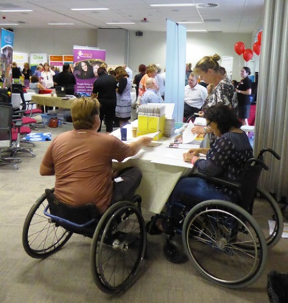 NDIS participants, providers and staff enjoying the WA Provider Expo