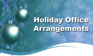 Holiday office arrangements