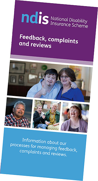 Feedback, complaints and reviews brochure cover