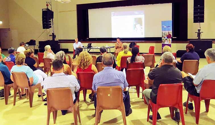 Northern Territorians attend the first NDIS public event – a forum at the Tennant Creek Civic Hall on 19 February.