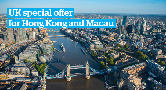 UK special offer for Hong Kong and Macau students