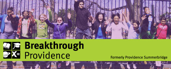 Breakthrough Providence (formerly Providence Summerbridge) E-News