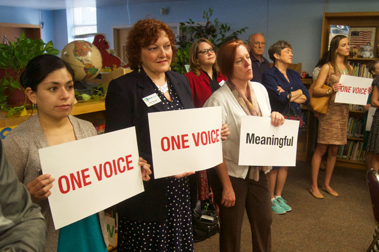 One Voice at News Conference