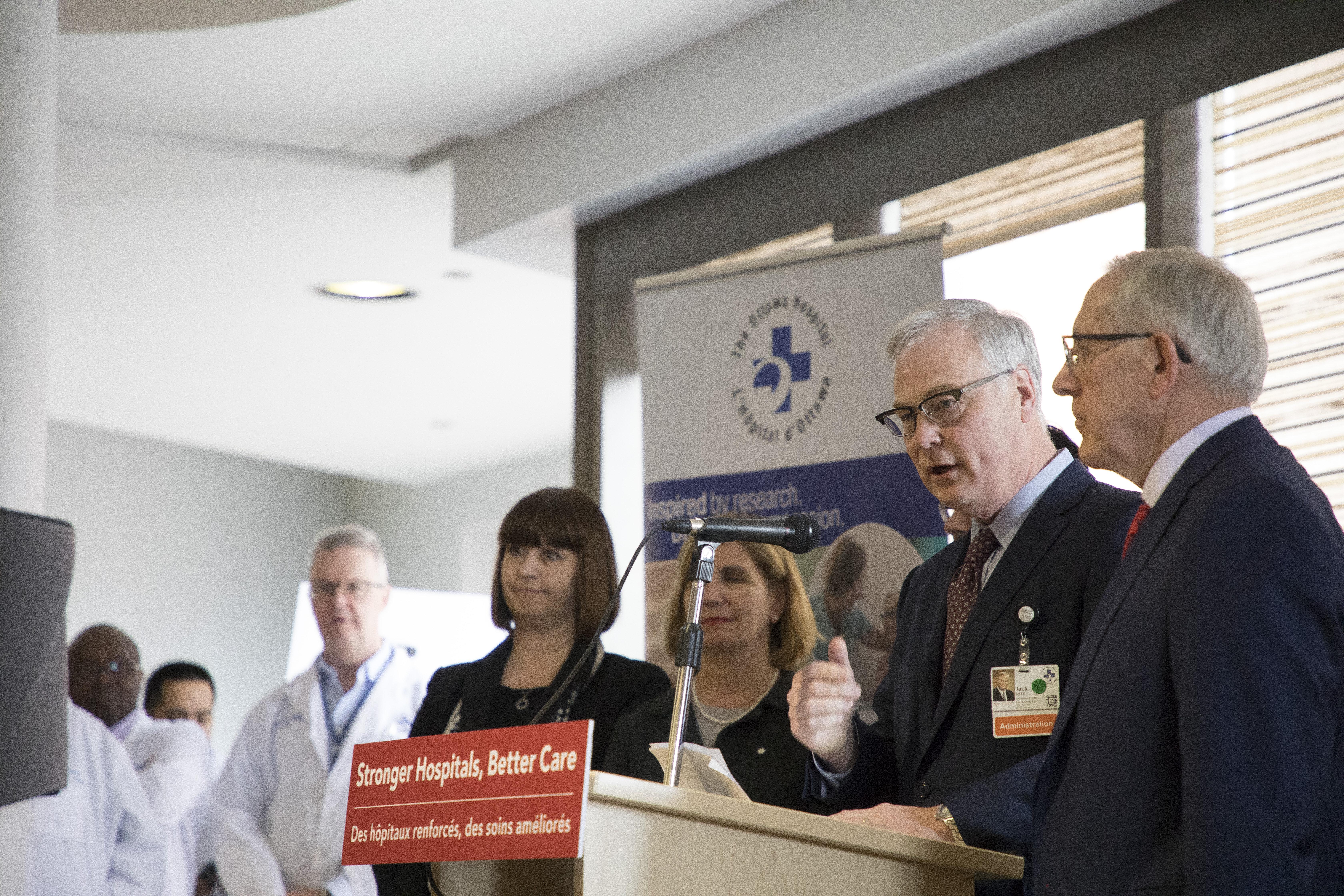 Engagement de l'Ontario pour le nouveau campus de L'Hôpital d'Ottawa