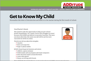 Download: Dear Teacher, Please Meet My Child: A Sample Letter for Parents