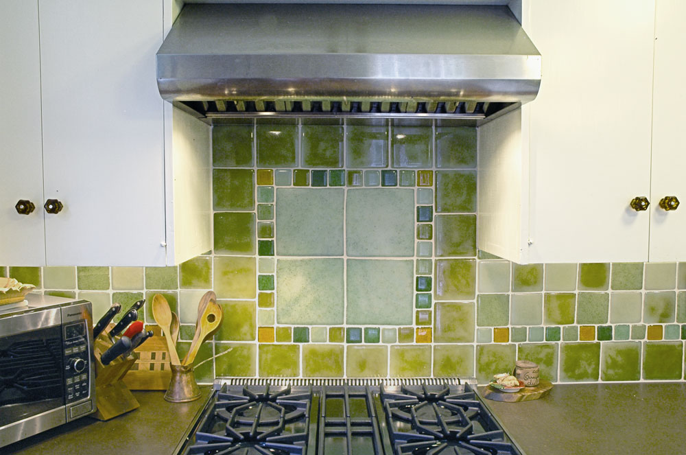 Bedrock Industry Tile in Kitchen Backsplash