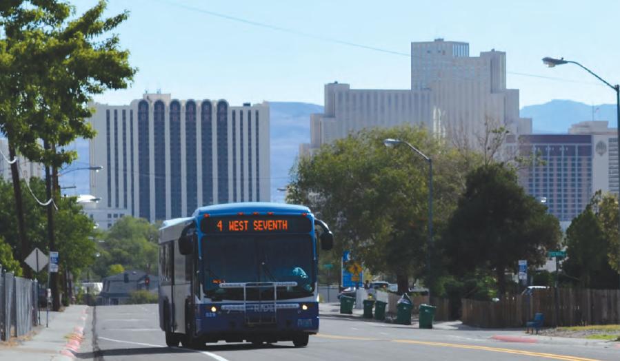 A bus near downtown