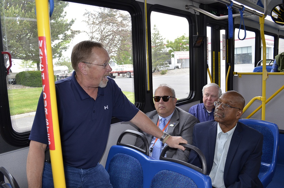 Councilmember Smith on the Bus