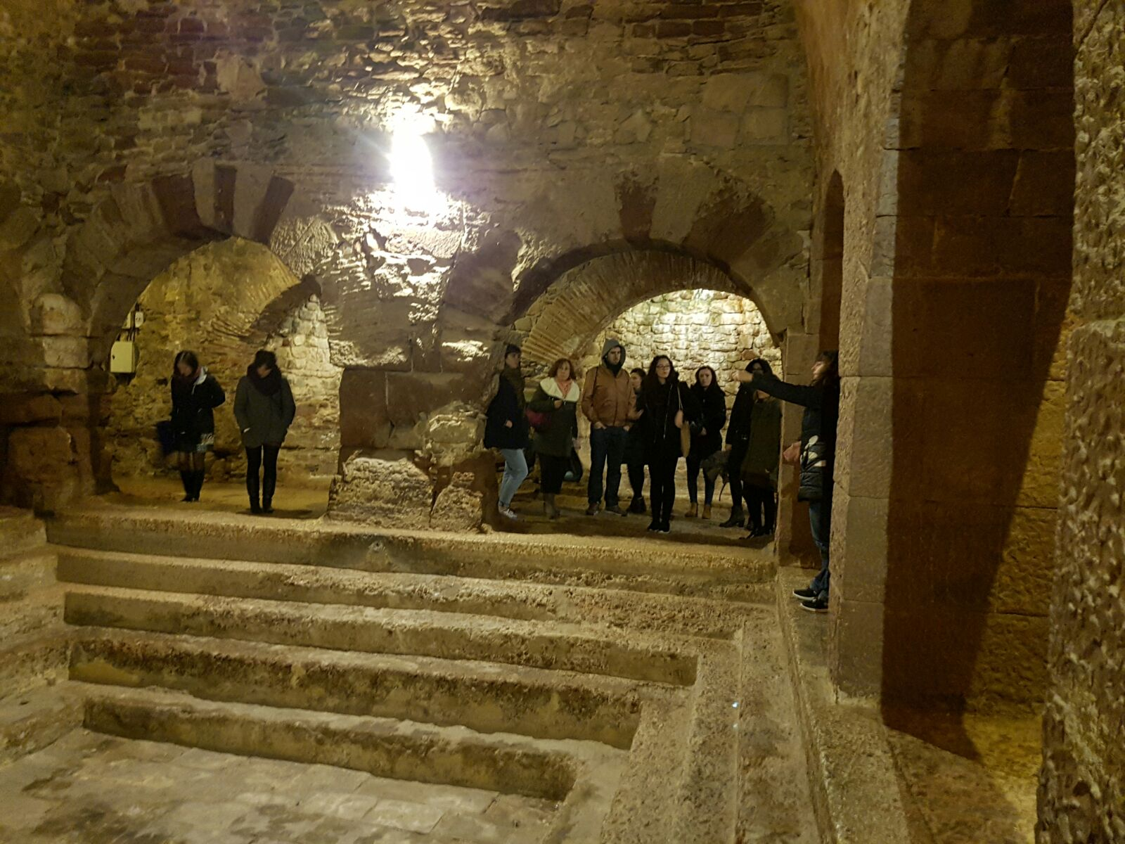 Visita a les Termes Romanes de Caldes de Montbui