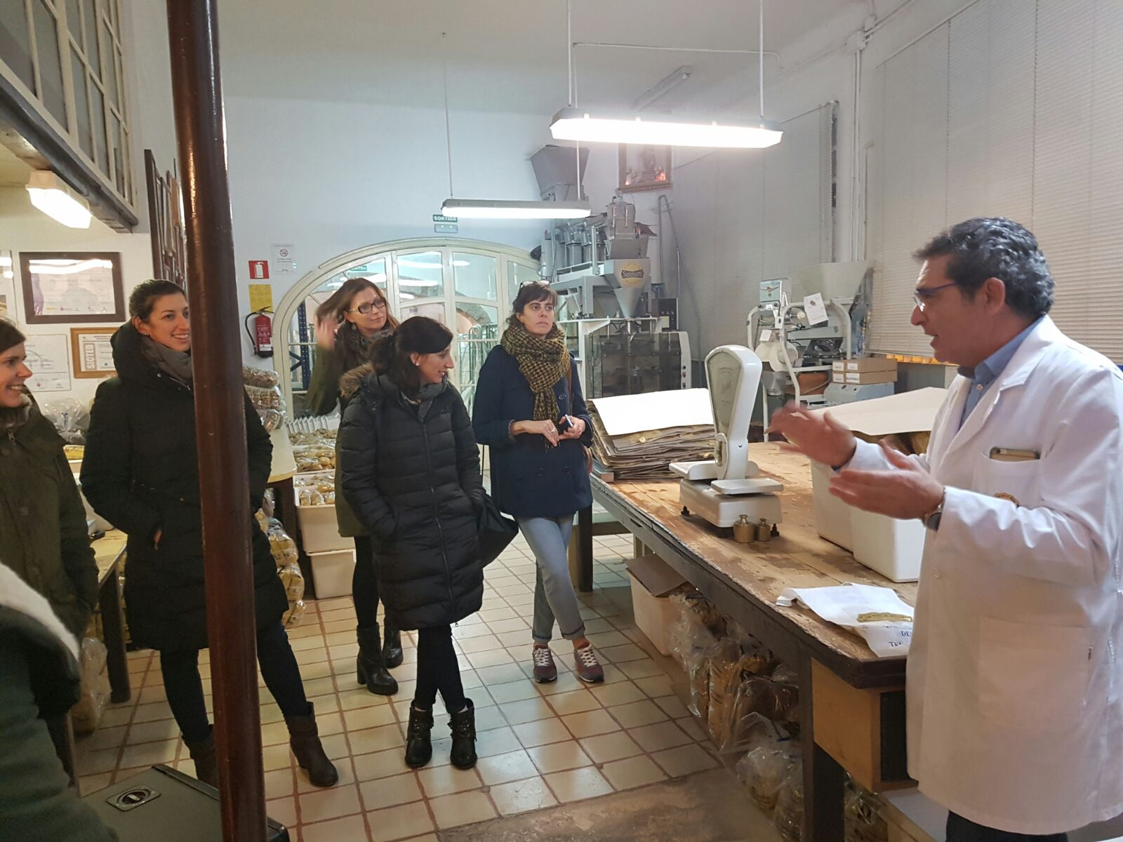 Vista a la fàbrica de pasta Pastes Sanmartí