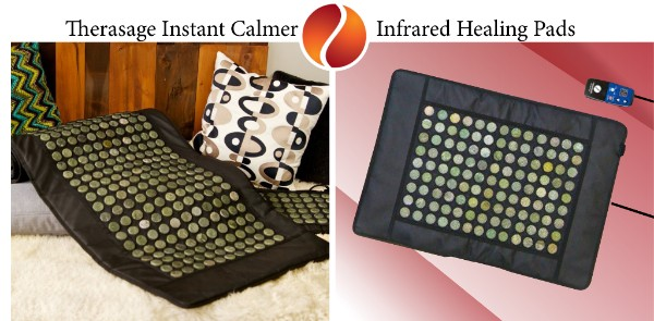 Therasage has completely revolutionized personal health products!! !Therasage Instant Calmer Infrared Healing Pads feature full spectrum, deep penetrating infrared heat, with natural jade stones to generate negative ions and grounding therapy. Without exposure to harmful EMF's, soft and flexible, comfortable to lie on or wrap around your body, this is not like any heating pad you've ever used!!