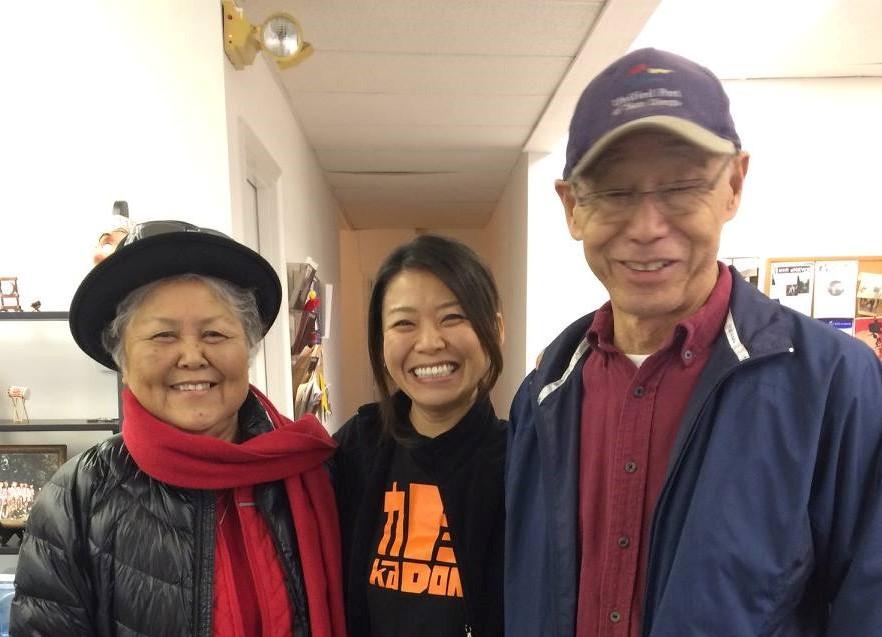 Mr. and Mrs. Kanoya with Aya Yoshida