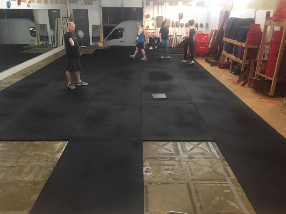 New studio floor installation