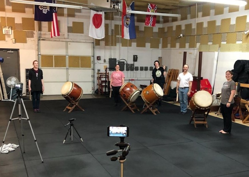 Thawing out from the polar vortex to play taiko