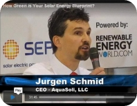 CEO Juergen Schmid, AquaSoli, speaks about PV on landfills at PV East
