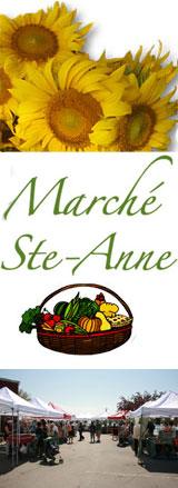 Marché Ste-Anne sur rue St. Georges CETTE SAMEDI