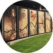 Aviva Reed's Symbiogenesis mural launches in Eltham