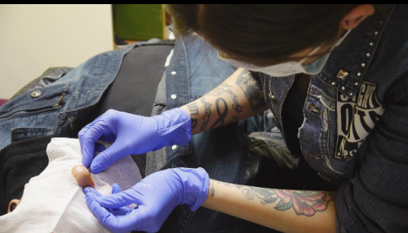 healing a piercing
