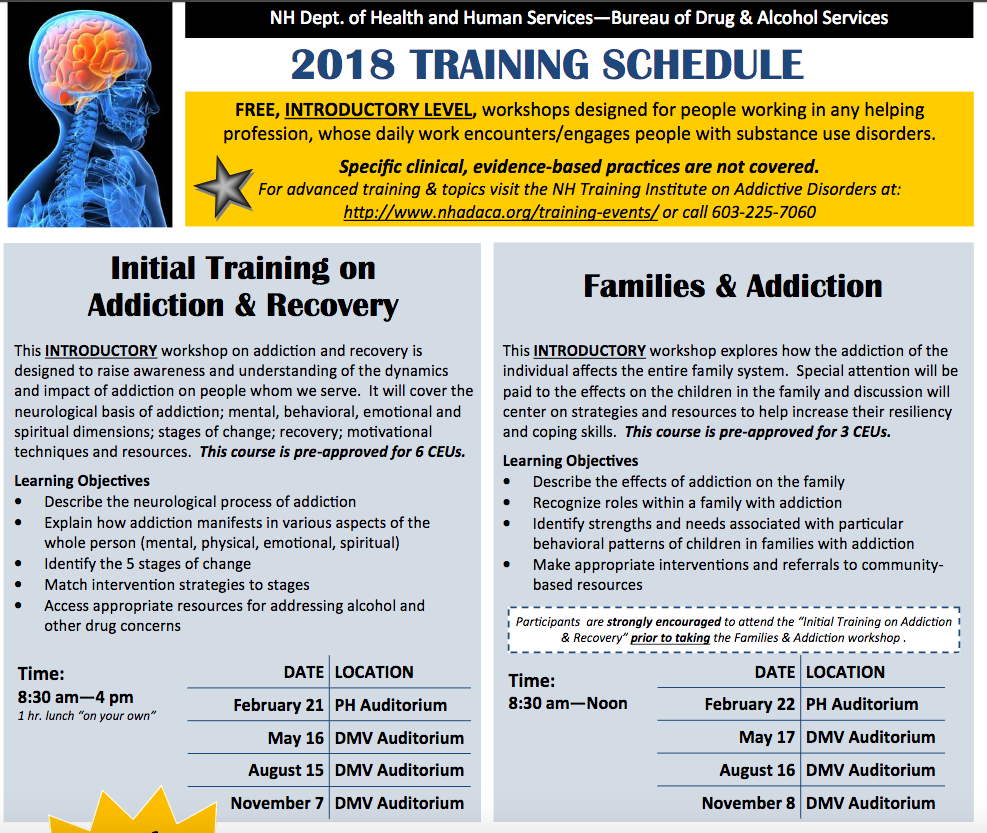 Addition & Recovery Training in NH