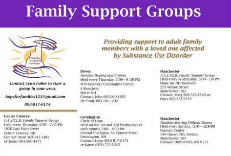 NH Addiciton Family Support Groups