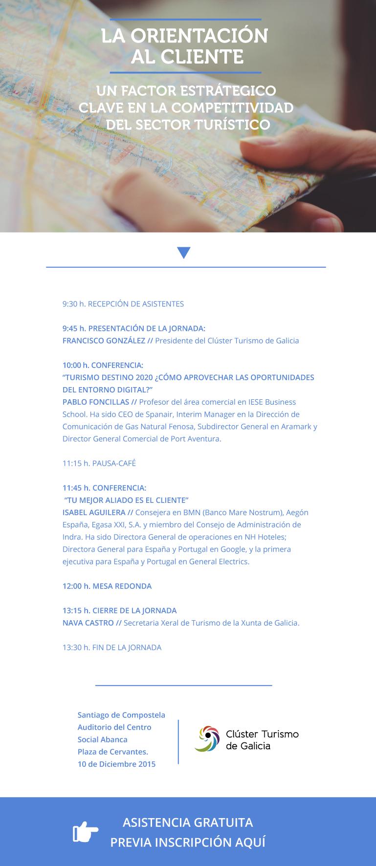 """Invitación Jornada """"La Orientación al Cliente: factor clave en la competitividad del sector turístico"""""""