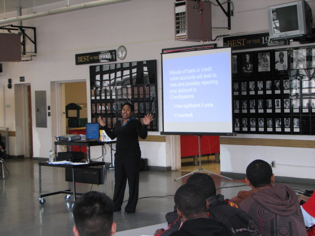 Shay Olivarria speaks at Hoover High in San Diego.