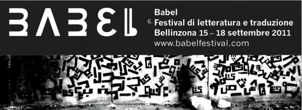 turn on images, you'll see our logo here, saying: Babel festival di letteratura e traduzione, 15-18 settembre, Bellinzona