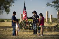 Buffalo Soldier reenactor at Fort Phantom Hill