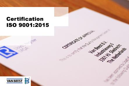 Certification ISO 9001:2015 renouvelée