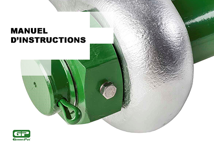 Instructions Green® Pin Fixed Nut Shackles