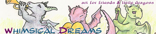 Art for Friends and Little Dragons, from Whimsical Dreams, a branch of Studio Metasilk