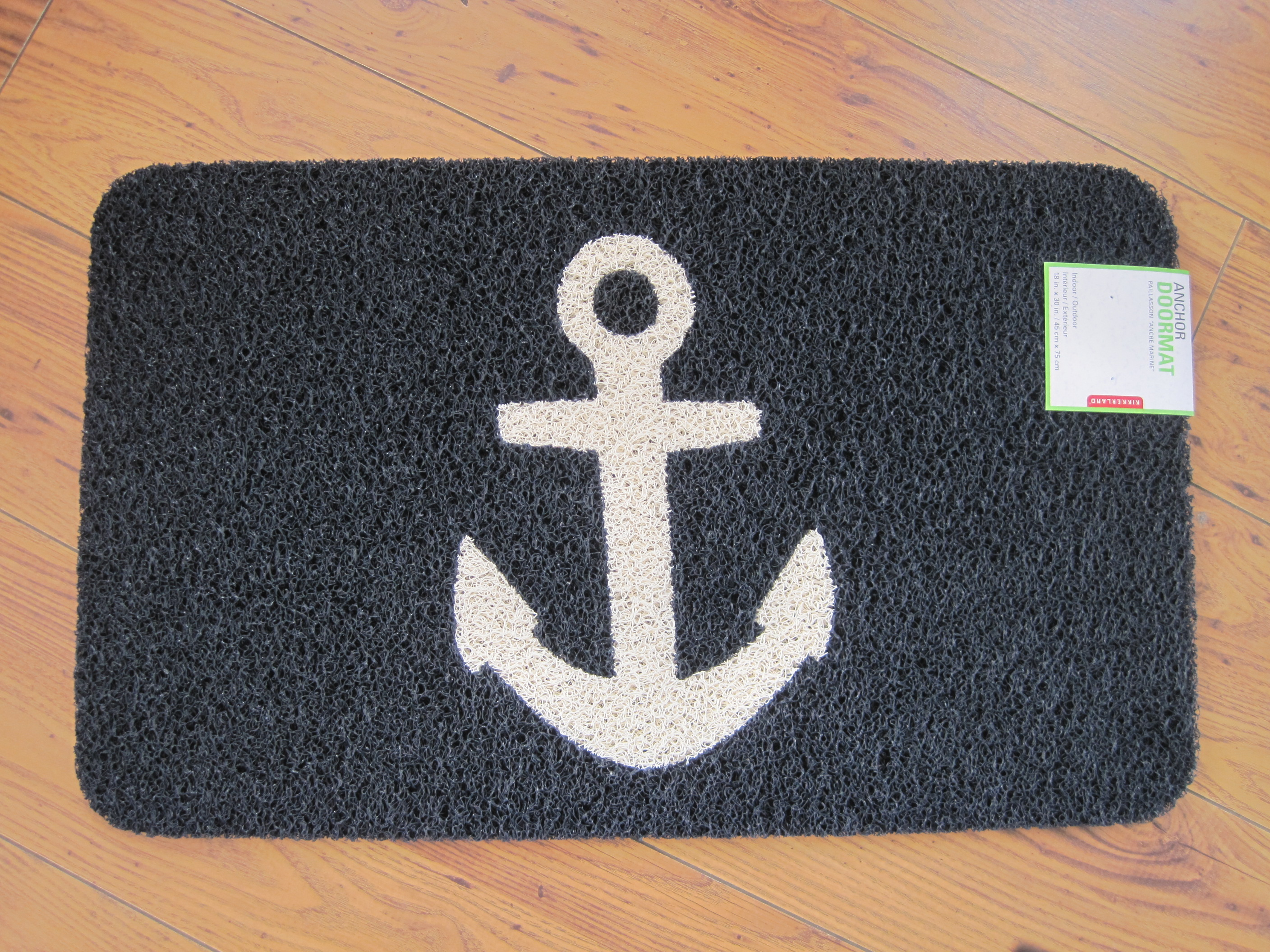 anchor doormat by kikkerland design