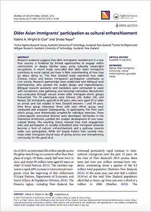 Older Asian Immigrant