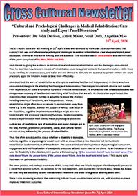 Cross Cultural Newsletter