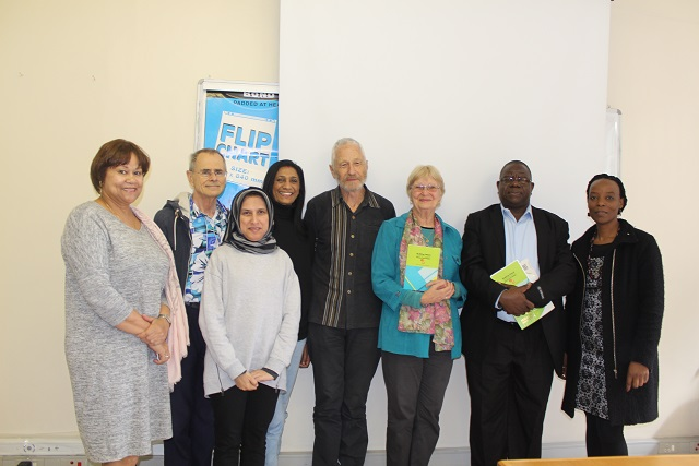 DUT staff with authors, Dr Sylvia Kaye and Professor Geoff Harris , at the book launch.