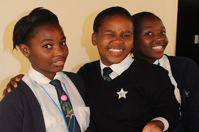 Some of the pupils at the DUT Gender Forum Take a Girl Child to Work Day initiative.