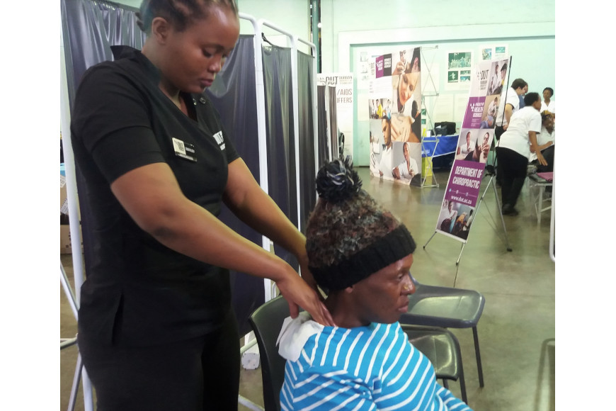 chiropractic treatment from a DUT student.