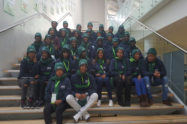 The PMB DUT GCI team on arrival at the 5th Annual Green Campus Conference.