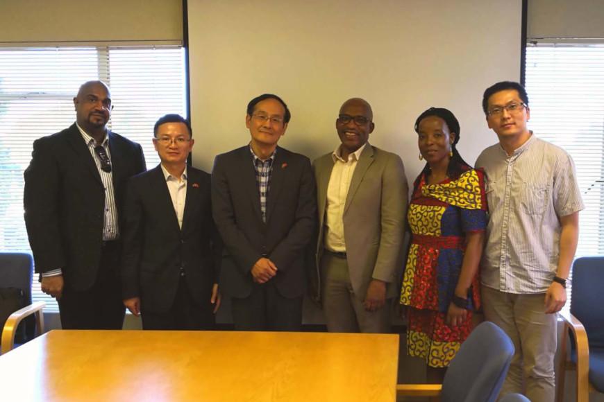 Dr Lavern Samuels,Dr Lavern Samuels, Mr Wang Daoyu, Professor Thandwa Mthembu, Professor Sibusiso Moyo