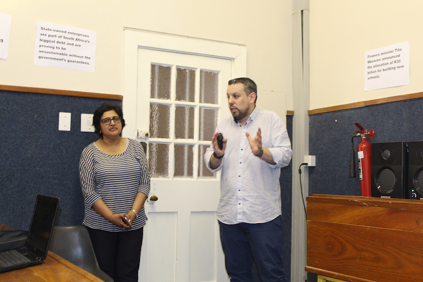 Mrs Deseni Soobben  and Ismael Garcia
