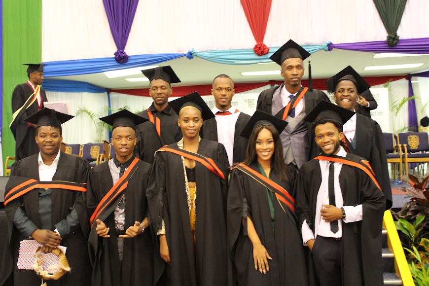 The group of DUT's Drama and Production Studies students