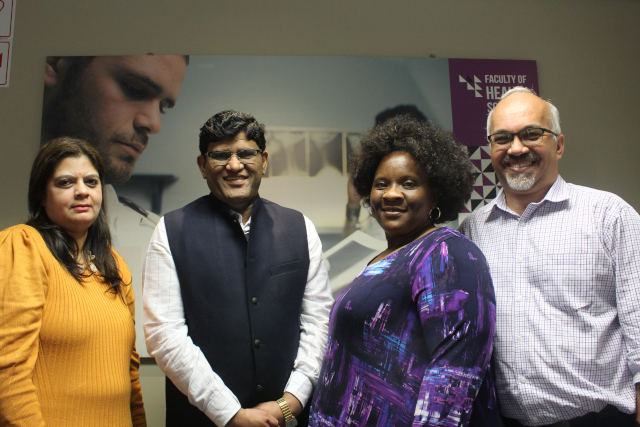Prof R Bhangwan, Dr C Puri and Prof N Sibiya