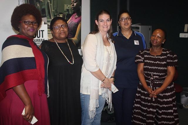 Nqobile Sawula, Dr Maleshoane Rapean-Mathonsi, Odette Swift, Dr Rene Smith, Dr Listepiso Matlosa.