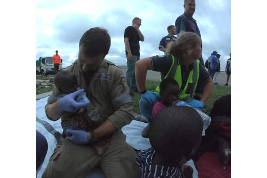 Keanan Reynolds helping feed children