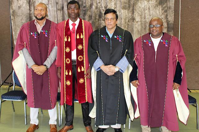 Dr Mohale, Dr Pillay, Mr Nxulamo