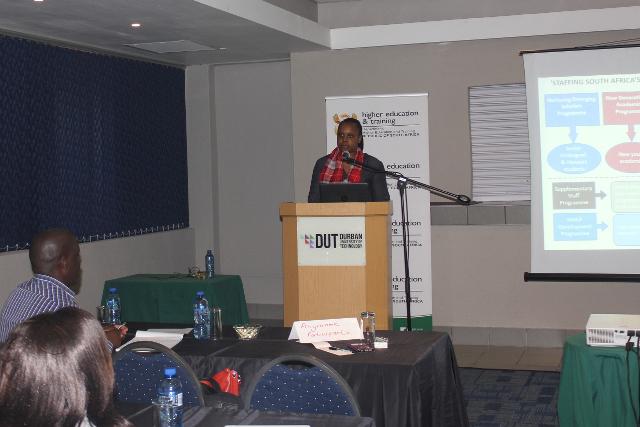 DHET representative, Mandisa Cakwe