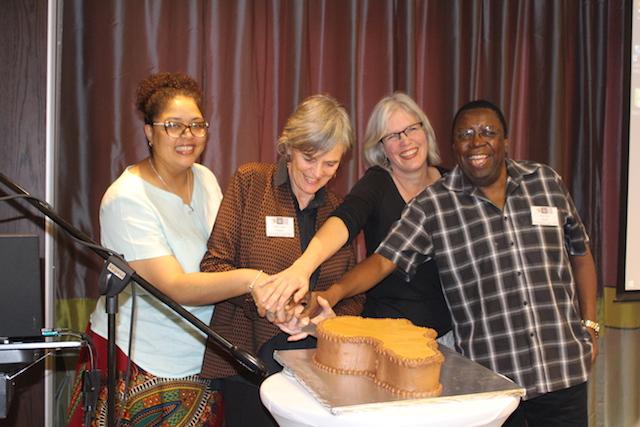 Dr René Smith, Prof Lucia Thesen, Prof Sioux McKenna and Prof Felix Banda