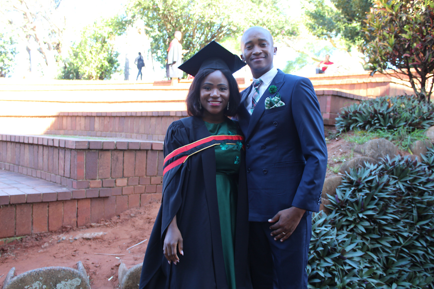 Nondumiso and Her husband Masimbonge  Mathomane