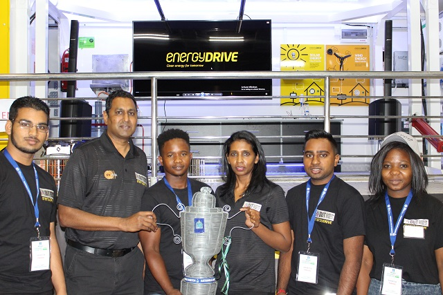 Dr Ian Lazarus and his team win for the best stand at the exhibition.