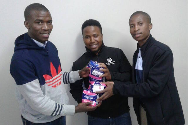 sanitary pads donated by DUT students